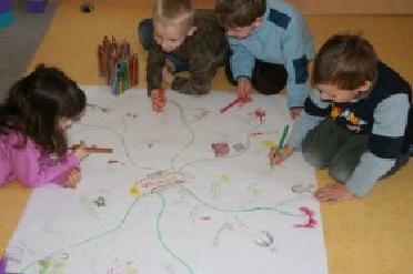 Projektarbeit bergkindergarten st bonifatius for Raumgestaltung mit kindern